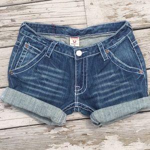 True Religion Cut Off Shorts Size 30 Sammy Big T